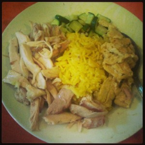 Indonesian Yellow rice with curcuma