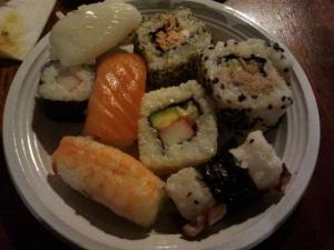 The famous Japanese Sushi