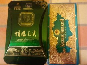 Chinese Tea Leaves and Chocolate from Kazakhstan