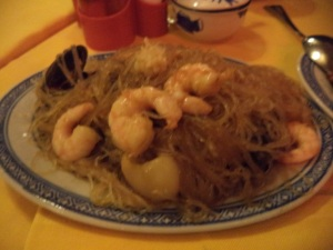 Bean Thread Noodles with Seafood