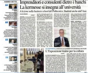 Il Giorno, Italian Newspaper, March 22, 2014
