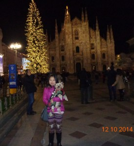 Snapshot time at Milan Cathedral with its Gigantic Xmas Tree