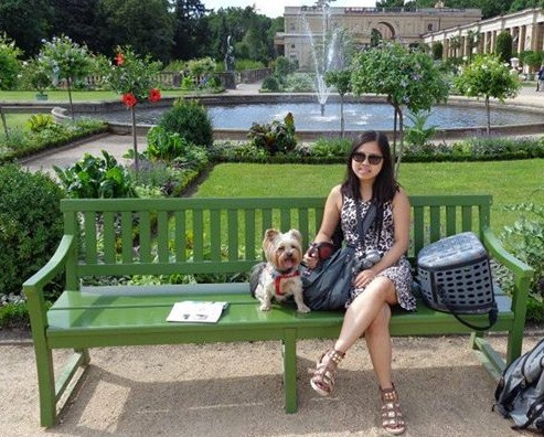 Relaxing in Sanssouci Terrace Garden