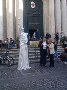 human liberty statue