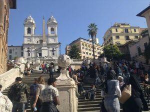 piazza spagna - la chiesa di trinita dei monti