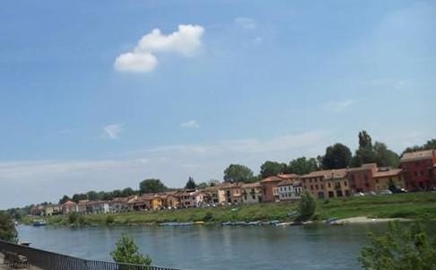 River near the bridge during summer