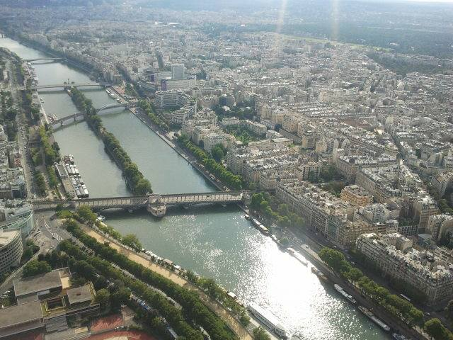 Gorgeous view from the top of Eiffel