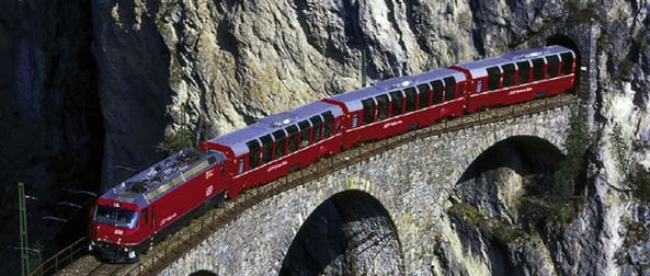Bernina Express - Photo is from UNESCO