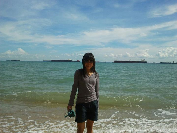 At East Coast during sunny day with clear blue sky