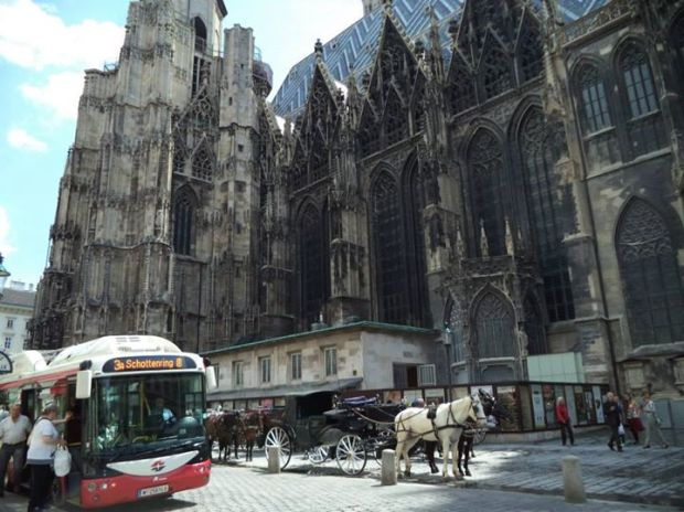 The side of Vienna Cathedral
