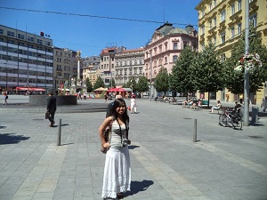 Me standing in the middle of Brno