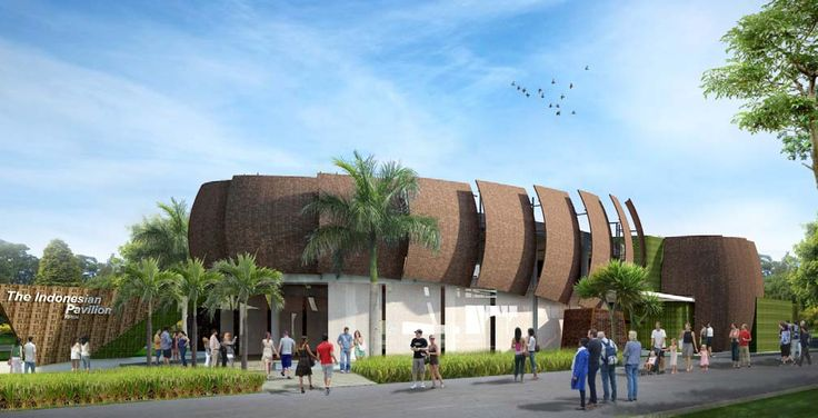 Design of Indonesian Pavilion - Image is taken from official Expo 2015's pinterest (with hyperlink provided on the image)