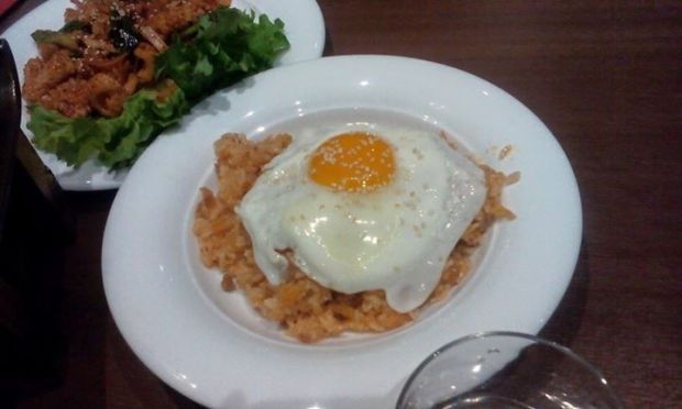 Kimchi Fried Rice and one Seafood Dish