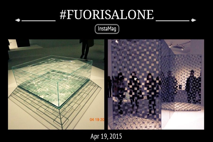 The Exhibition of Glass Furniture at Fuori Salone near Piazza della Repubblica - Milan