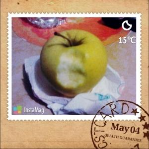 Ginger Gold Apple I ate for Dinner :D