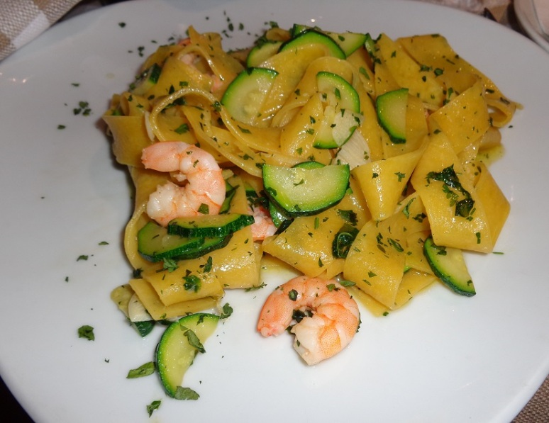 Pappardelle con Gamberi (Pappardelle with Prawns)