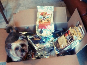BEI with his Wolfsblut dog food products