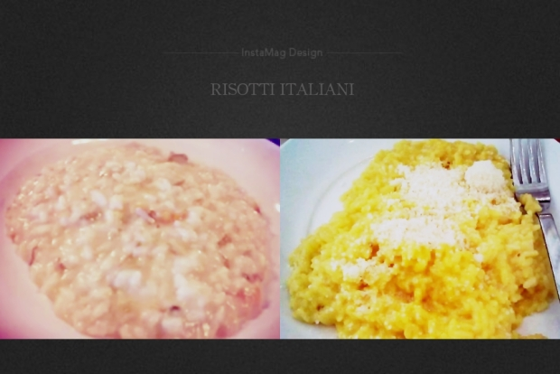 Risotto with Porcini Mushrooms and Risotto with Saffron