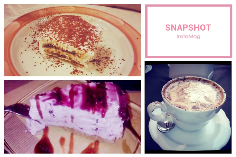 Tiramisu, Blueberry Cheesecake and Cappuccino