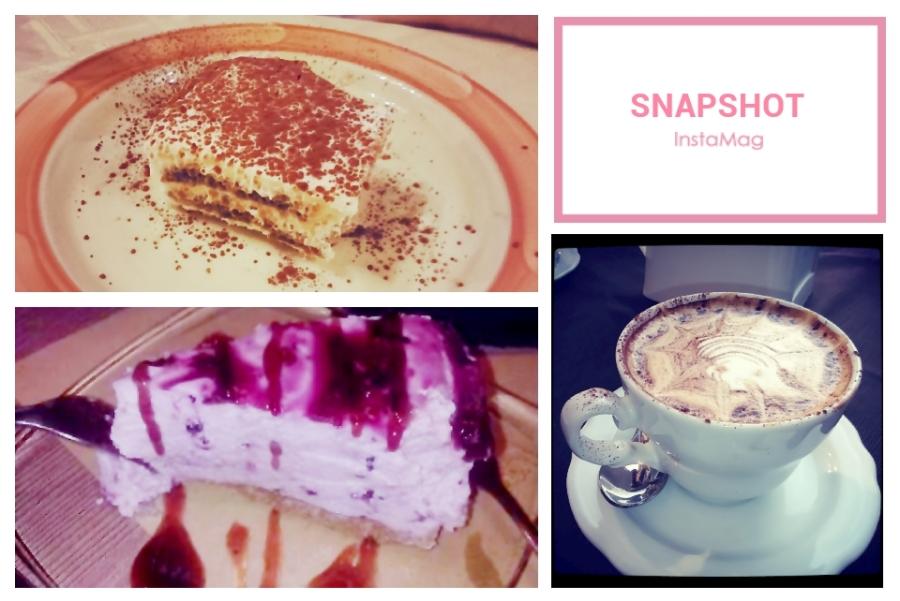 Tiramisu, Blueberry Cheesecake and Cappuccino